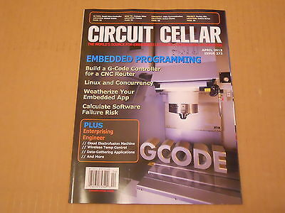 Circuit Cellar GCODE Electronics Hobby Project Magazine April 2013 Issue 273 NEW