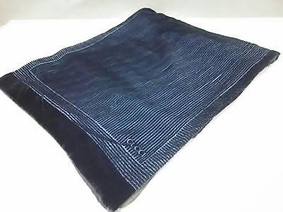 Auth GUCCI Black Silk Rayon Scarf