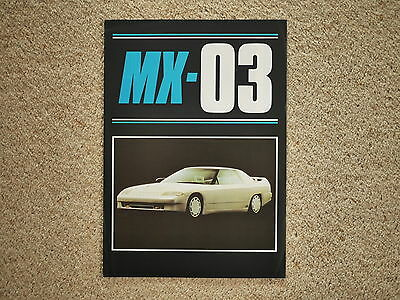 ** Mazda MX-03 1985 UK promotional leaflet * brochure