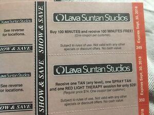 Show & Save Lava Suntan Studios Coupons