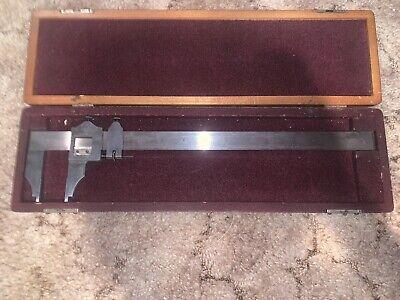 Starrett 12 Master .001 Inside Outside Measuring Vernier No.122 W Case Caliper
