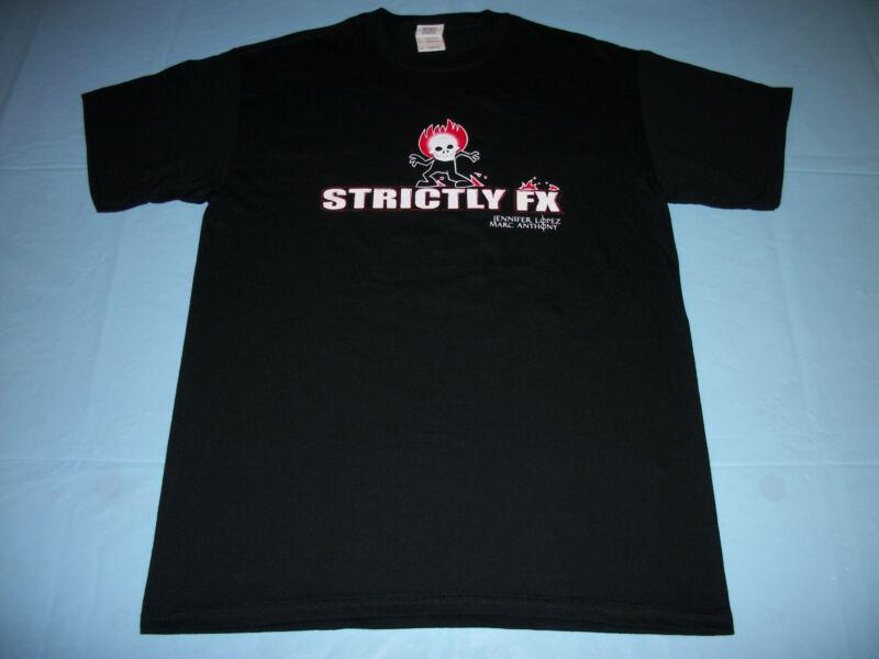 JENNIFER LOPEZ & MARC ANTHONY Strictly FX CREW T-Shirt MEDIUM 2007 Concert Tour
