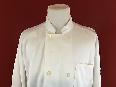 Uncommon Threads Lot Of 3 White Xl Polycotton Uniform Chef Coat Jackets