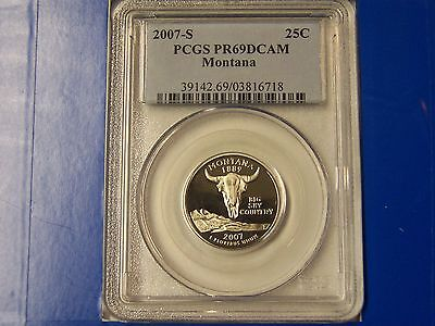 2007-S MONTANA STATE QUARTER DOLLAR PCGS PR69DCAM     IN THE US