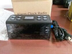 Alarm Clock Radio black  5.5 x 2.5 H-248 Small Portable Size