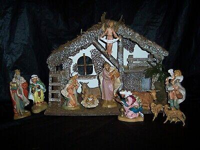 Vintage 1998 Fontanini Roman Heirloom Nativity Set Simonetti Italy Spider Marks