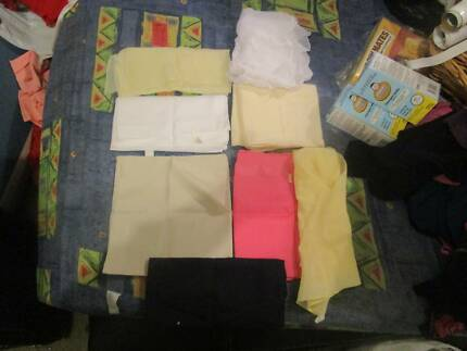 8 X Various Sized & Coloured Ladies Silky Scarves (Like New)