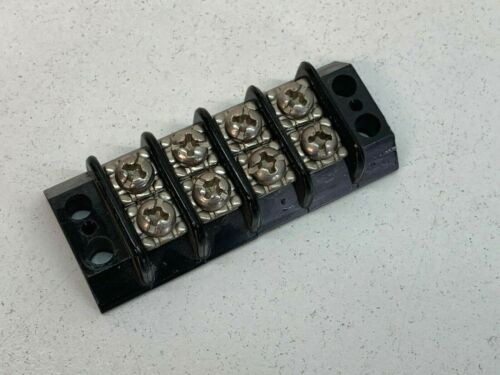 Cinch 4-position Double Row Contact Terminal Wiring Block Strip, Phillips Head