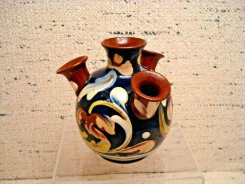 Aller Vale Udder Pottery Ceramic Floral Vase in Blues and Brown