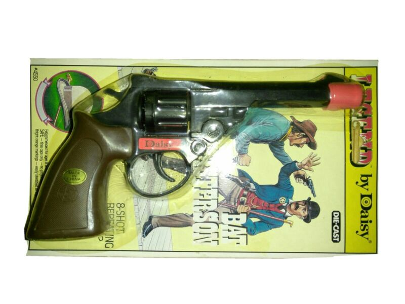 Daisy Legend Bat Masterson Cap Pistol Toy Gun octagonal barrel Rare Toy on Card.
