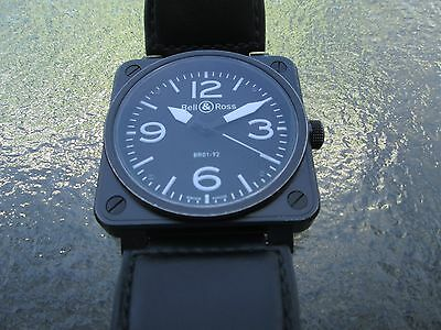 BELL & ROSS BR 01-92-S-04045 Aviation / Military 46mm Black, original, accurate