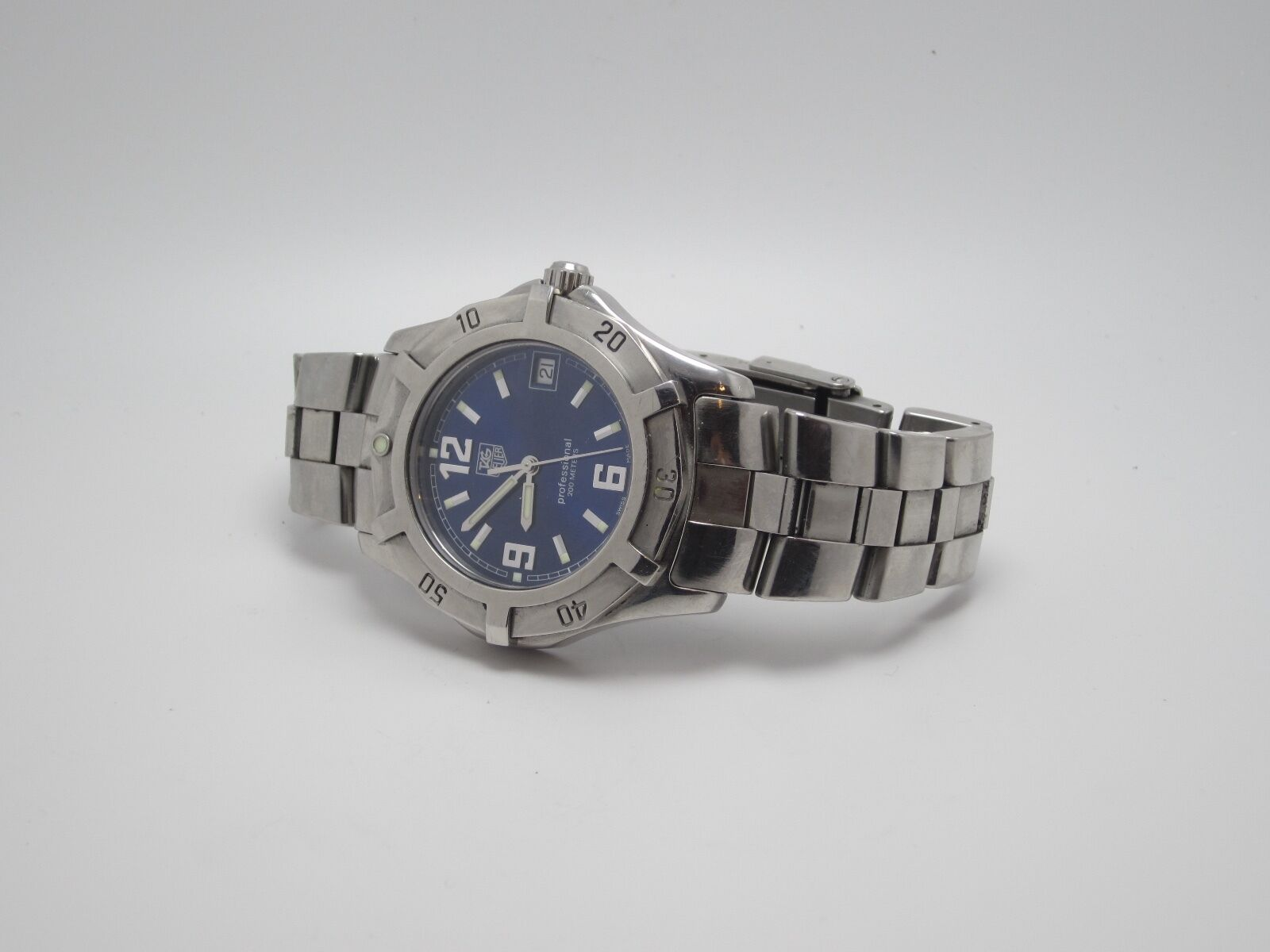 tag heuer wm1312 womens blue face stainless steel watch ebay