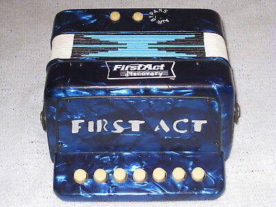 First Act Discovery Accordion Blue Musical Instrumentl