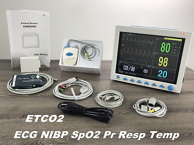 With Etco2 Capnograph Contec Cms8000 Vital Signs Patient Monitormulti Parameter