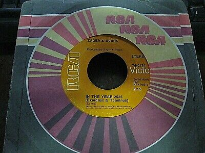 Zager & Evans 45 rpm Vinyl record In The Year 2525 / Little Kids  RCA sleeve (Zager & Evans In The Year 2525)