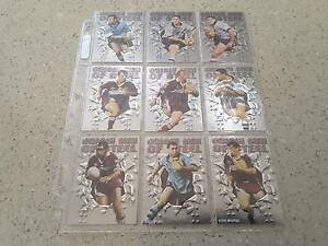 NRL Trading Cards 1995 - S2 - 9 Origin Men of Steel Chase Cards Rivett Weston Creek Preview