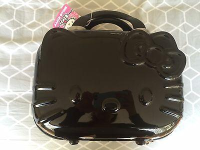 BNWT Hello kitty black train makeup cosmetic case hard cover