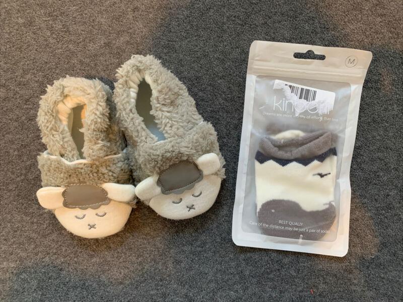 Baby Crib Shoes fit 0-24m with socks bonus!