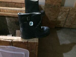 Slip over mud boots