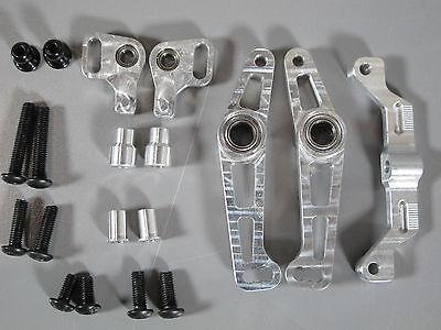 Knuckle Arm Set - Aluminum Wide Angle Steering Knuckle Arm set Tamiya RC 1/10 TT-01 Drift