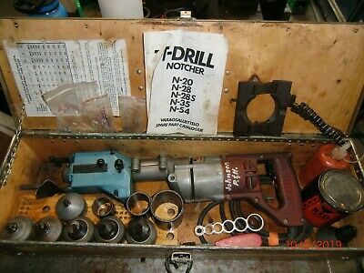 T-drill T-50 Copper Pipe Notcher 6 Bits 12 To 2 Works Well Notcher Included