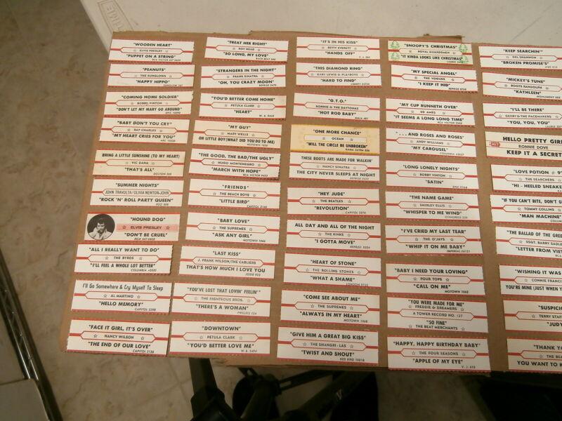 50 ORIGINAL JUKEBOX TITLE STRIPS~CONNIE FRANCIS~RONNIE DOVE~VOGUES~ETC.~#3