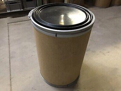 Clamp Rim Fiber Barrel-30 Gallon Drum-with Plastic Lid And Clamping Rim