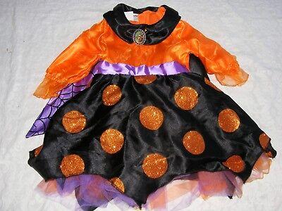 Disneyland Disney Parks Minnie Mouse Witch Costume Size XXS 2 3 Orange Purple - Minnie Witch Costume