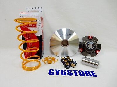 DLH PERFORMANCE VARIATOR  & 1500 RPM SPRINGS KIT FOR GY6 150cc SCOOTERS *12gm*
