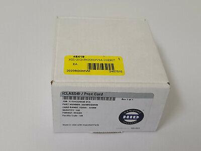 Brand New 50x Bundle Of Hid Iclass Px D8l Card Format H10301 Pn 2020bggmv