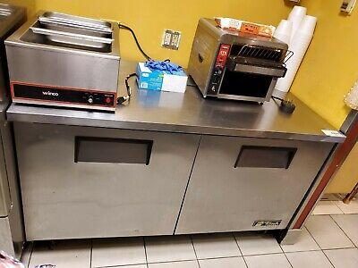 True - Tuc-60f-hc - 60 In 2-door Undercounter Freezer.new Panel And Wiring