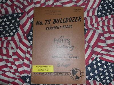 Caterpillar 7s Bulldozer Part Book 5a2001 - 5a5084