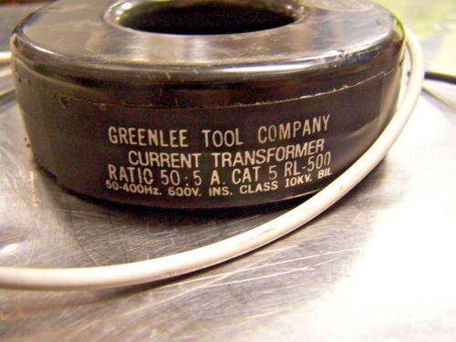 😉 GREENLEE CURRENT TRANSFORMER RL-500 RATIO 50:5 AMP 600 VOLT Cat 5