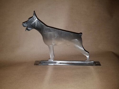 Doberman Pinscher Mailbox topper statue metal art PTDOBMBT2