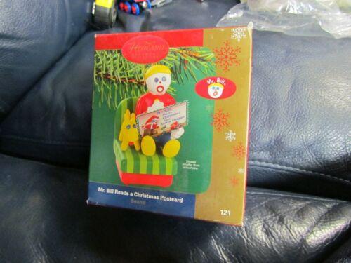 Heirloom Mr. Bill Reads a Christmas Postcard Ornament NEW