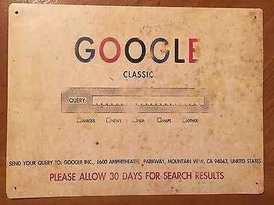 Tin Sign Vintage Google Classic