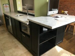 Stand alone island with marble countertop $1500
