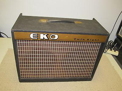 RARE Vintage EKO Twin Eight Tube Guitar Amplifier, NICE,  WORKS