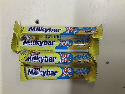 4 milkybar choo classic *uk Postage* 4 x 11grams. Royal Mail Post. 4 Bars