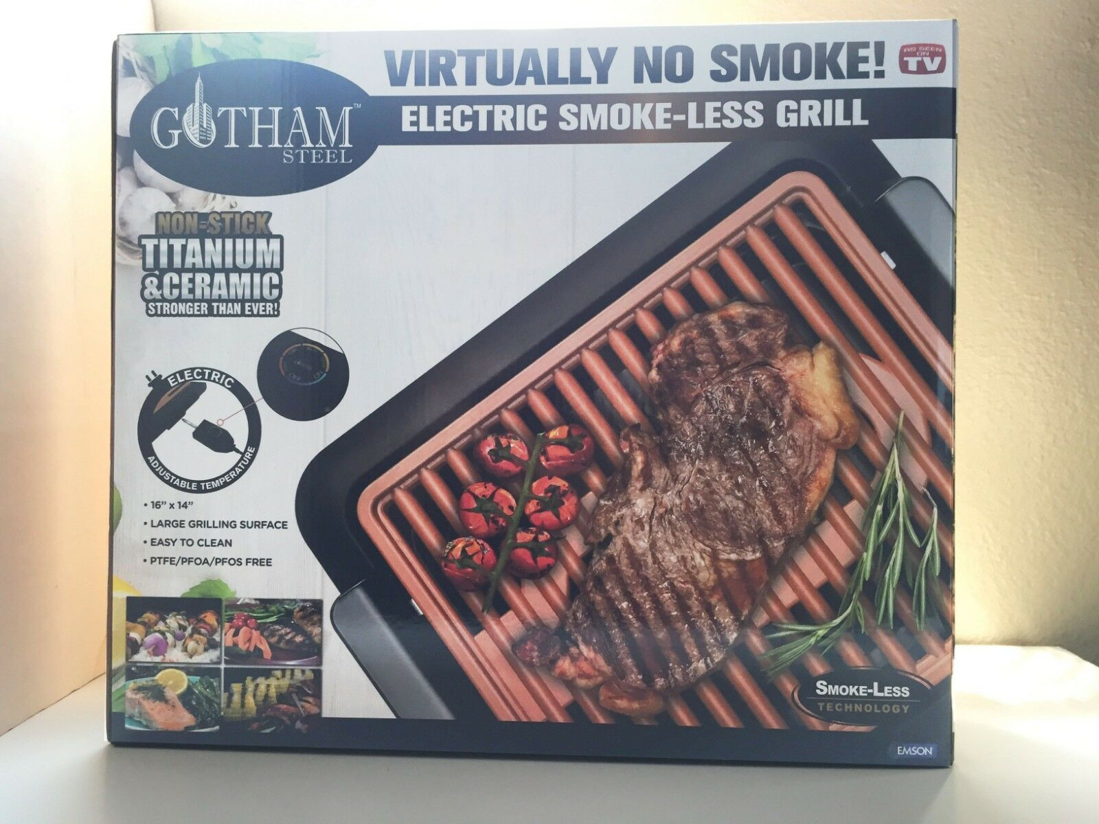 Gotham Steel Electric Smokeless Grill as seen on TV