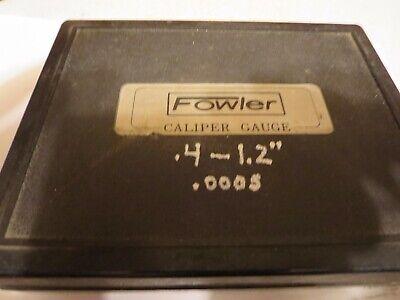Fowler External Dial Calipernice In Case.