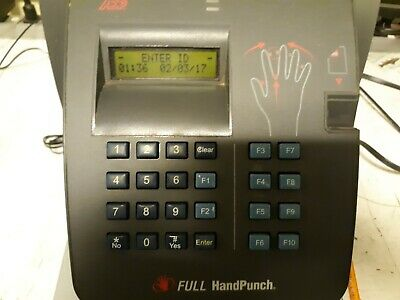 Schlage Full Handpunch Hp-4000 Ethernet Bio-metric Time Clock Partsrepair