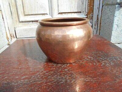 Vintage French  SMALL copper plant pot/jardiniere not Villedieu