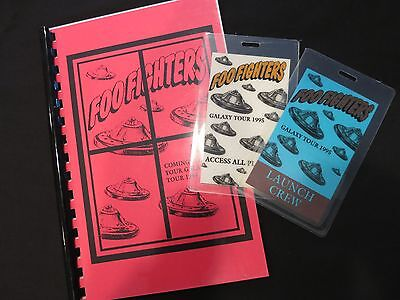 FOO FIGHTERS ORIGINAL TOUR ITINERARY BOOK BACKSTAGE PASSES! DAVE GROHL NIRVANA