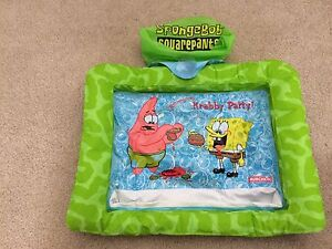 Sponge bob inflatable travel kids placemat
