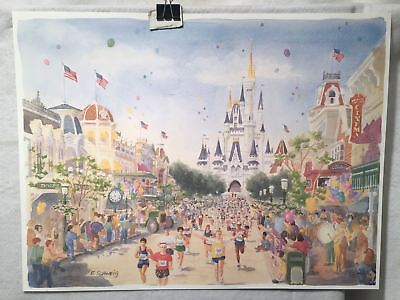 Evey (Evey Schweig 1996 Disney Marathon - Disney World - Lithograph Print 15 x 20