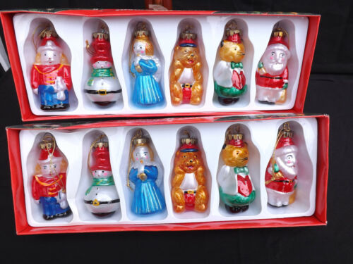 Vintage Glass Christmas Light Covers 2 complete sets