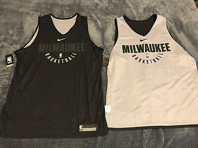 NWT Nike Milwaukee Bucks NBA Practice Reversable Jersey XL-Tall(XLT)TEAM ISSUED!