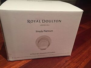 Royal Doulton Simply Platinum 12 piece set Cardiff Lake Macquarie Area Preview