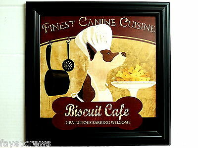 Dog Chef Hat (KITCHEN PICTURE DOG CHEF  BISCUIT CAFE  CHEF HAT FRAMED)